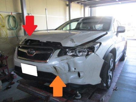 全損事故の鈑金塗装修理事例(幸手市ースバル・XV)