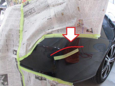 傷・へこみの鈑金塗装修理事例(太田市 スバル・レヴォーグ)